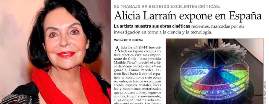 ALICIA LARRAÍN GRAN ARTISTA Y EX ALUMNA GENERACIÓN ´61 , EXPONE EN ESPAÑA