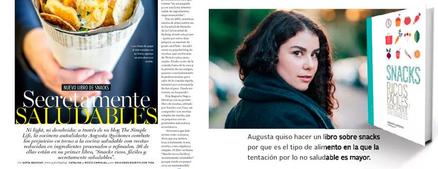 Augusta Quiñones generación 2011, presenta su libro Snacks ricos, fáciles y secretamente saludables