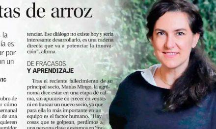 Carolina Echenique generacion '93, fundadora de Tika Chips hoy destacada en suplemento Innovación de El Mercurio