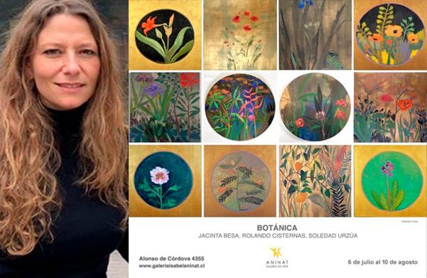 Soledad Urzúa (gen '92) destacada artista expone en la expo Botánica
