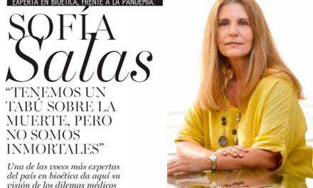Interesante entrevista en la revista Ya, a la doctora Sofía Salas generación'74, experta en bioética, frente a la pandemia.